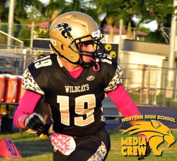 "ANDY RODRIGUEZ '18, WR, 5'10"", 185lbs, 3.46gpa, WESTERN HIGH SCHOOL, DAVIE, FLORIDA"